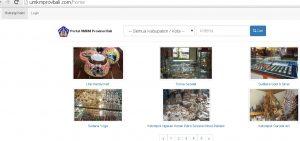 Gambar1. Web Aplikasi UMKM Provinsi Bali (Home Screen)
