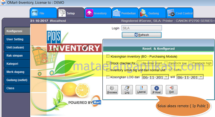 POS Inventory Program Supermarket Minimarket